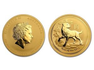2018澳洲生肖狗金幣1盎司