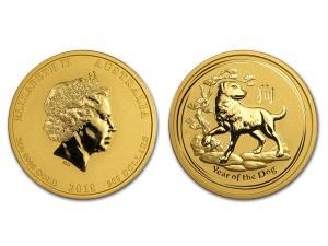 2018澳洲生肖狗金幣2盎司
