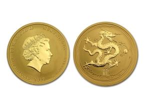 2012澳洲生肖龍年金幣0.5盎司