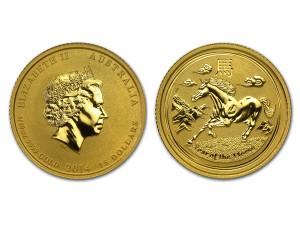 2014澳洲生肖馬金幣0.1盎司