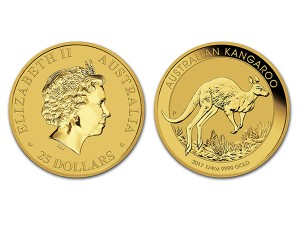 2017澳洲袋鼠金幣0.25盎司