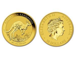 2017澳洲袋鼠金幣0.5盎司