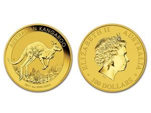 2017澳洲袋鼠金幣1盎司