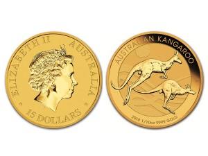 2018澳洲袋鼠金幣0.1盎司
