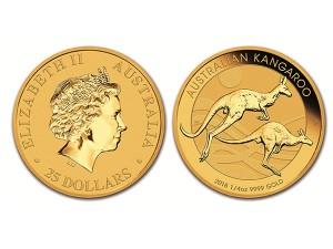 2018澳洲袋鼠金幣0.25盎司