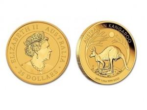 2019澳洲袋鼠金幣0.25盎司