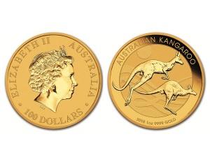 2018澳洲袋鼠金幣1盎司