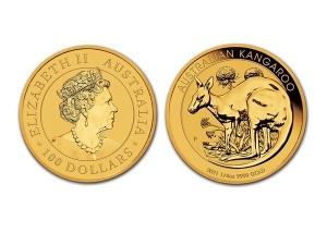 2021澳洲袋鼠金幣0.25盎司