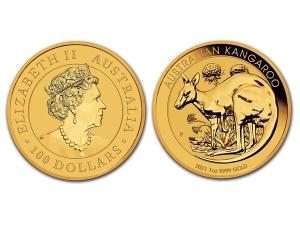 2021澳洲袋鼠金幣1盎司