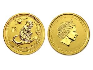 2016澳洲生肖猴金幣0.1盎司