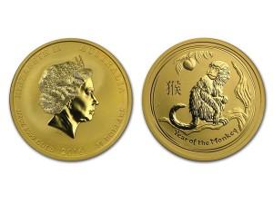 2016澳洲生肖猴金幣0.5盎司