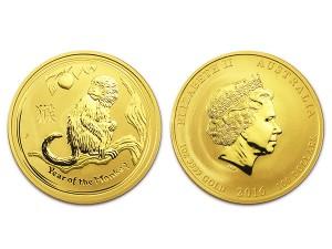 2016澳洲生肖猴金幣1盎司