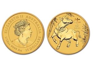 2021澳洲生肖牛金幣0.1盎司(系列III)
