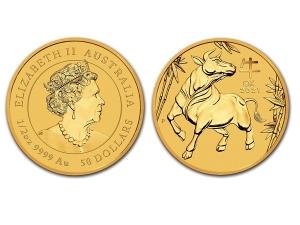 2021澳洲生肖牛金幣0.5盎司(系列III)