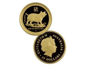 2007澳洲生肖豬金幣0.1盎司(精鑄)