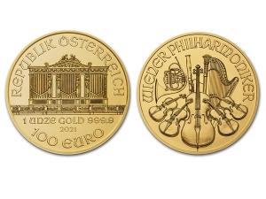 2021維也納愛樂金幣1盎司