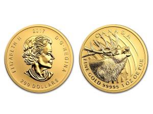 2017 加拿大麋鹿.99999金幣 1盎司 (原廠封卡)