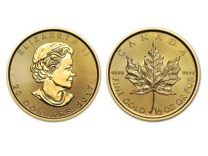 2017加拿大楓葉金幣0.5盎司