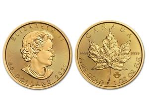 2021加拿大楓葉金幣1盎司