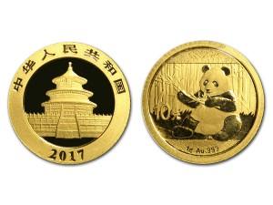 2017中國熊貓金幣1克
