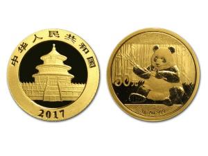 2017中國熊貓金幣3克