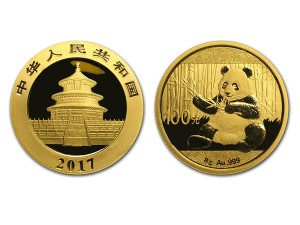 2017中國熊貓金幣8克