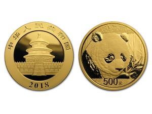 2018中國熊貓金幣30克