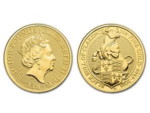 2018英國克拉倫斯黑牛金幣1盎司
