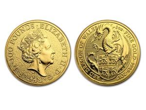 2017英國威爾斯紅龍金幣1盎司