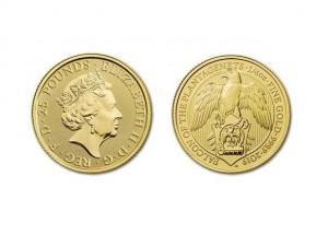 2019英國金雀花獵鷹金幣0.25盎司