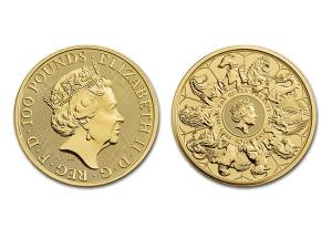 2021英國皇室十紋章獸金幣1盎司