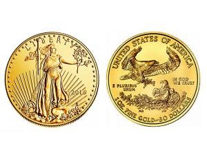 2016美國鷹揚金幣1盎司