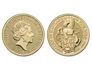 2018英國蘇格蘭獨角獸金幣1盎司