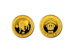 1997丁丑牛年紀念金幣0.1盎司