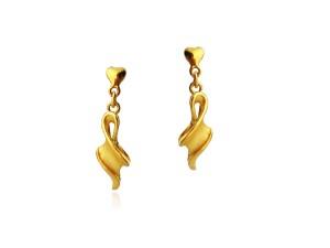 黃金夾式耳環