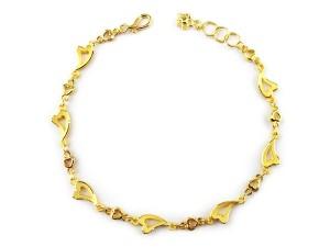 愛心黃金手鍊