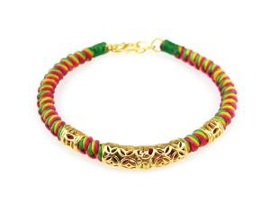 編織手環-黃金串飾