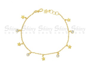 黃金星星手鍊
