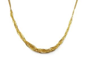 黃金麻花套鍊