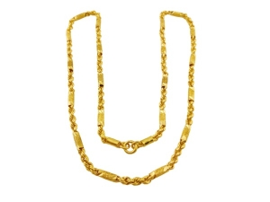 黃金麻花六角鍊