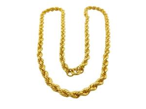 黃金經典麻花項鍊