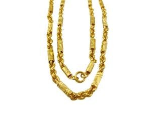 黃金麻花管鍊