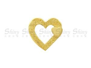 黃金愛心墜