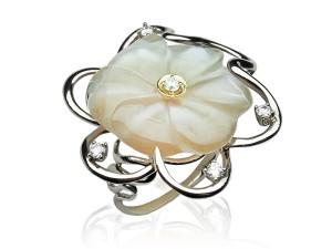 有色寶石(白石) 鑽戒