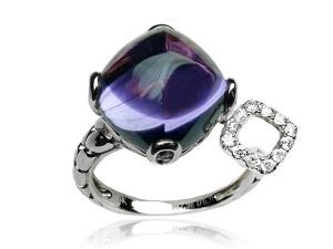 有色寶石(紫) 鑽戒