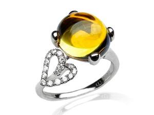 有色寶石(黃) 鑽戒