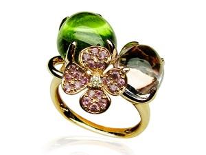 有色寶石(綠‧紫) 鑽戒