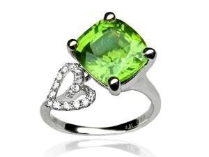 有色寶石(綠) 鑽戒