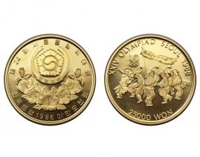 1986南韓漢城奧運金幣0.5盎司(韓國民族舞)22K