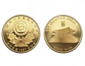 1987南韓漢城奧運金幣1盎司(南大門)22K